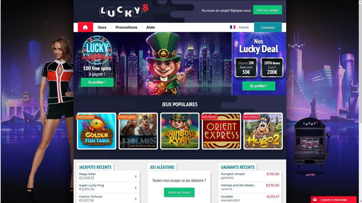 Avis Lucky8 : peut-on se fier à ce casino en ligne ?